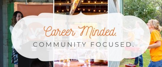 Career Minded. Community Focused Banner